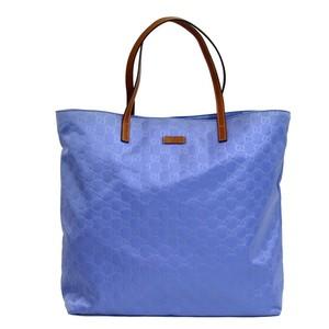 Gucci Blue Guccissima Nylon Handbag Tote Bag