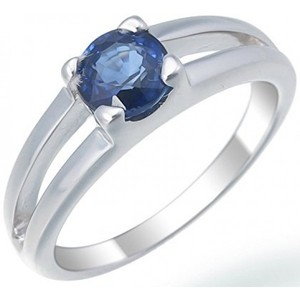 Vir Jewels Sterling Silver Created Blue Sapphire Ring (0.70 CT)
