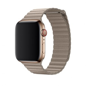 Apple 44mm Stone Leather Loop Band - Large