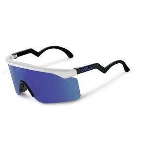 Oakley Razor Blade Heritage Collection Sunglasses Frame Color: Matte Clear Lens Color: Violet Iridium