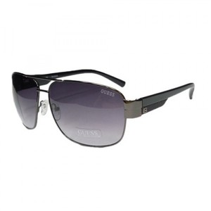 Guess GUF 127 GUN-35A Mens Aviator Sunglasses  Gunmetal Frame Grey Lens
