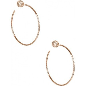 Guess Womens Gold-Tone Large Fireball Hoop Earrings