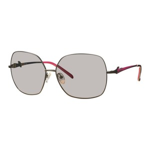 Guess Mens Sunglasses - 7189 / Frame: Black with Pink Temples Lens: Gray with Gold Flash