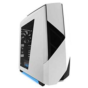 NZXT Noctis 450 White + Blue LED Mid Tower Casing