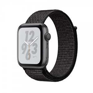 Apple Watch Nike+ Series 4 44mm GPS Space Gray Aluminum Case with Black Nike Sport Loop MU7J2