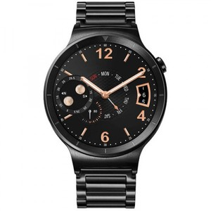 Huawei Watch 42mm Smartwatch (Black Stainless Steel  Black Stainless Steel Link Band)