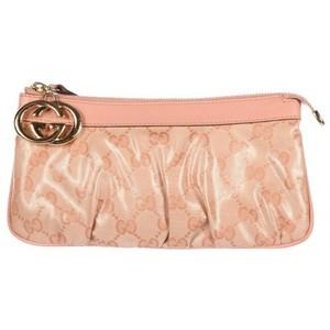 Gucci womens clutch handbag bag purse pink