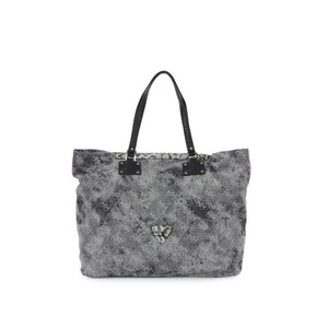 GUESS Women Chateau 81 Extra Large Tote Bag  Black Denim