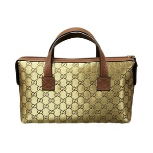 Gucci Canvas Gold Boston Bag Bowling Bag Handbag