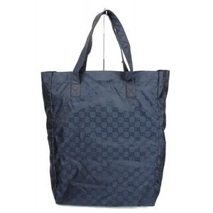 Gucci Guccissima Blue Nylon Handbag Viaggio Collection Tote Bag