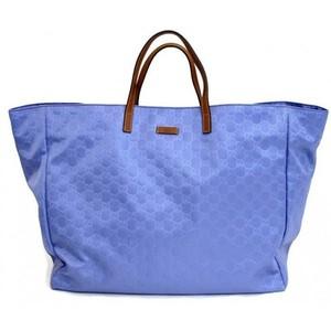 Gucci Blue Nylon Gg Guccissima Tote Bag Handbag