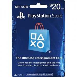 Sony PlayStation Store 20$ Gift Card - PS3/ PS4/ PS Vita PSN [Digital Code]