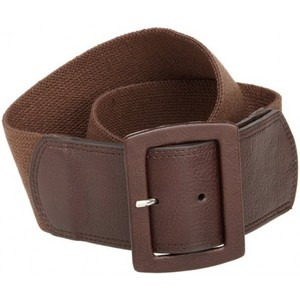 Calvin Klein Womens Linen Stretch Belt Color: Brown