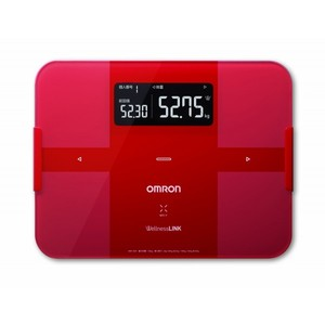 Omron body composition monitor with total body fat. Body scan HBF-252F-R Red scales