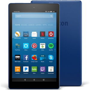 Amazon Fire HD 8 2017 16GB Marine Blue with Alexa (7th Generation) - With Special Offers