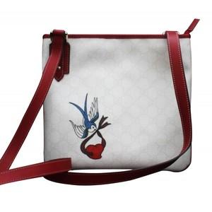 Gucci Cross Body Messenger Bag Handbag with Heart Bird Tatto