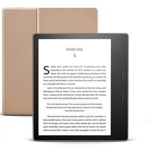 Amazon Kindle Oasis 32GB Champagne Gold - Now with adjustable warm light - Includes special offers