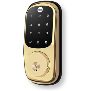 Yale YRL220 Keyless Touchscreen Deadbolt - Polished Brass Finish