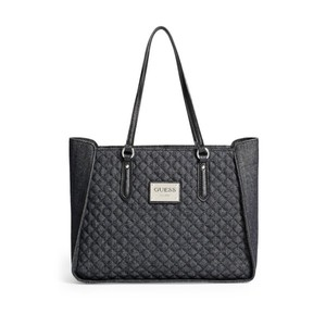 GUESS Womens Pompano Quilted Denim Tote