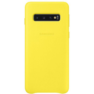 Samsung Leather Cover Yellow for Galaxy S10