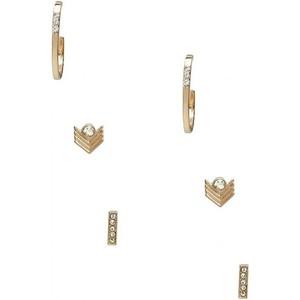 Guess Womens Gold-Tone Stud and Hoop Earrings Set