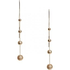 Guess Womens Gold-Tone Threader Earrings