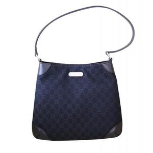 Gucci Brown Denim Hobo Handbag Shoulder Bag