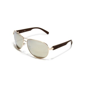 Guess Mens Etched Aviator Sunglasses