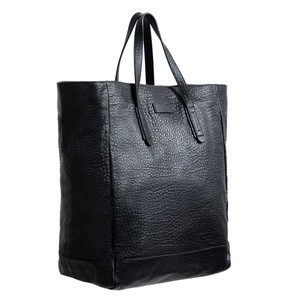 Gucci Unisex Black Leather Tote Travel Handbag Shoulder Bag