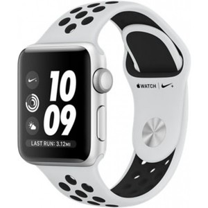 Apple Watch Series 3 Nike+ GPS 38mm Silver Aluminum Case with Pure Platinum / Black Nike Sport Band MQKX2