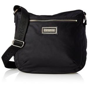 Calvin Klein Nylon Messenger Bag Black/Gold