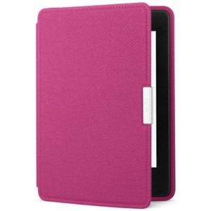 Amazon Case - Lightest and Thinnest Protective Genuine Leather Cover with Auto Wake/Sleep for Amazon Kindle Paperwhite  Fuschia