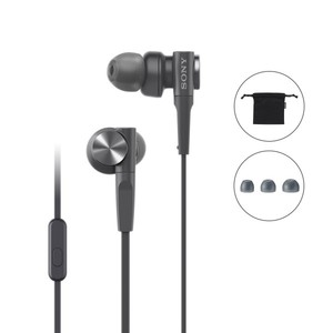 Sony MDR-XB55AP Premium In-Ear Extra Bass Headphones with Mic (Black)