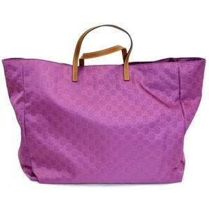 Gucci Purple Nylon Gg Guccissima Tote Bag Handbag