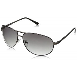 Guess GU 6744 GUN-35 Gunmetal Oval Aviator Sunglasses Mens