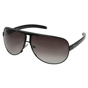Guess GU 6591 BLK-35A Mens Black Frame Designer Aviator Sunglasses