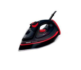 Philips Power Life Plus Steam Iron - Black & Red