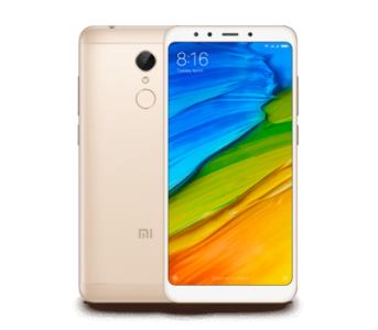 Xiaomi Redmi 5 Dual Sim (4G, 2GB RAM, 16GB ROM, Gold) 1 Year Official Warranty