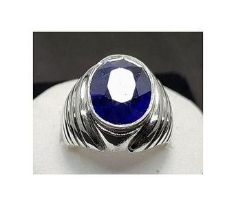 Handmade Natural Blue Sapphire Ring For Men Handmade Silver Ring