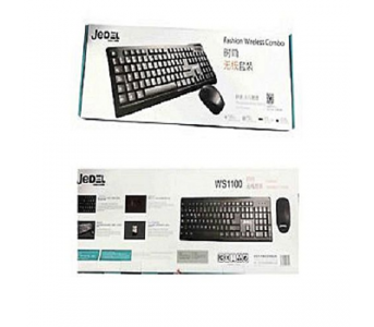 JEDEL WIRELESS KEYBOARD MOUSE COMBO WS1100 – BLACK