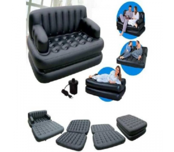 Ezzyshop 5-In-1 Inflatable Sofa Cum Bed
