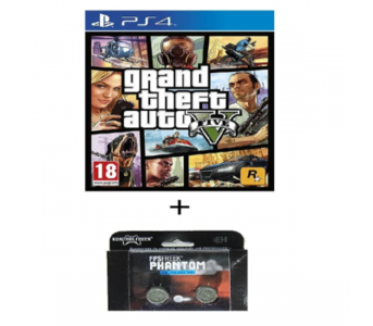 Pack of 2 - GTA V & Kontrol Freeks DVD PS4 Game