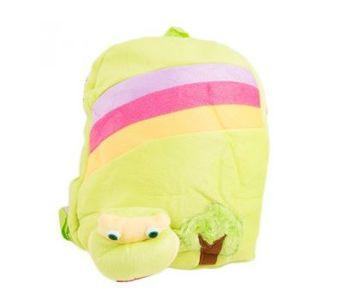 Cartoon Stuffed Toy Backpack School Bag Notebook Bag Laptop Bag Travel Bag for Kids - Green