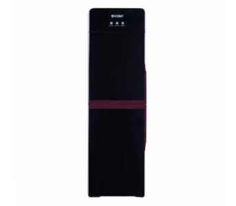 ORIENT Crystal Water Dispenser (3 Tap) Glass Door With Mini Refrigerator – Black