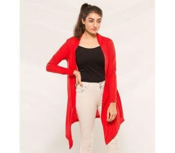 Womens Red Shrug - Winter Collection