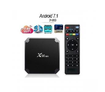 ANDROID SMART TV BOX – X96-MINI QUAD CORE (2GB-16GB) – BLACK