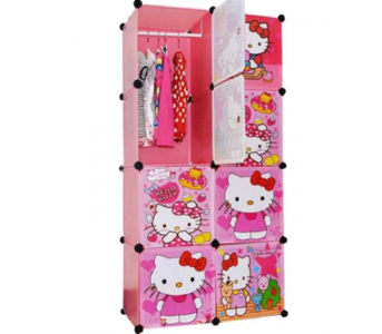 8 Cubic Hanging & Storage Cabinet & Wardrobe - Hello Kitty