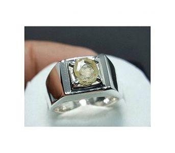 Handmade Unheated Ceylon Yellow Sapphire Handmade Pukhraj Ring