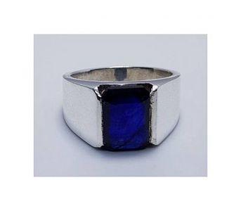 Handmade Natural Unheated Blu Sapphire Silver Ring