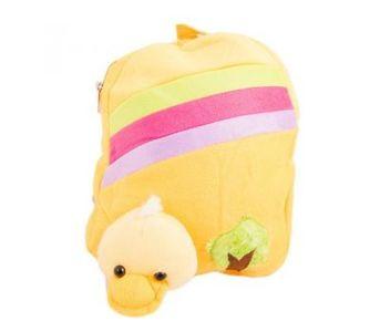 Cartoon Stuffed Toy Backpack School Bag Notebook Bag Laptop Bag Travel Bag for Kids - Yellow